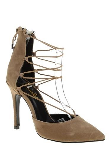 Bambi İnce Yüksek Topuklu Ayakkabı Vizon